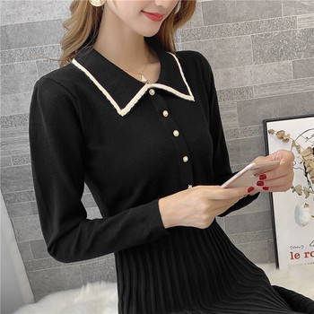 9308 actual photo of new knitted square collar woolen dress female slim 75 -- 1 / F, 7 rows, 2 shelves 4