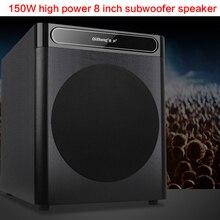 150W 8 Inch High Power Subwoofer Speaker Home Theater HiFi Fever Subwoofer Audio K Song Ultra Bass Passive Speaker Long Stroke