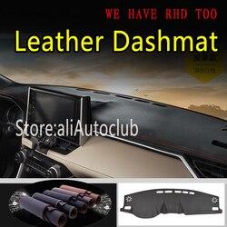 עבור טויוטה rav4 XA50 2019 2020 5th דור עור Dashmat לוח מחוונים כיסוי כרית מחצלת דאש שמשיה שטיח מכונית