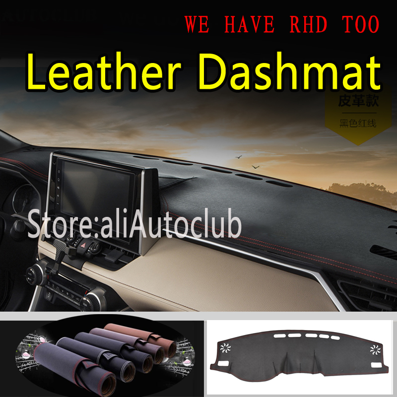 For Toyota Rav4 XA50 2019 2020 5th Generation Leather Dashmat Dashboard Cover Pad Dash Mat Sunshade Carpet  Car