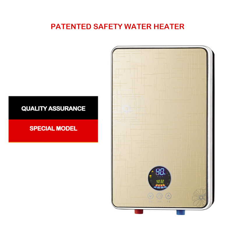 Instantaneous Electric Water Heater Intelligent Constant Temperature Instant Hot Shower Household Water Heater Safety Patent