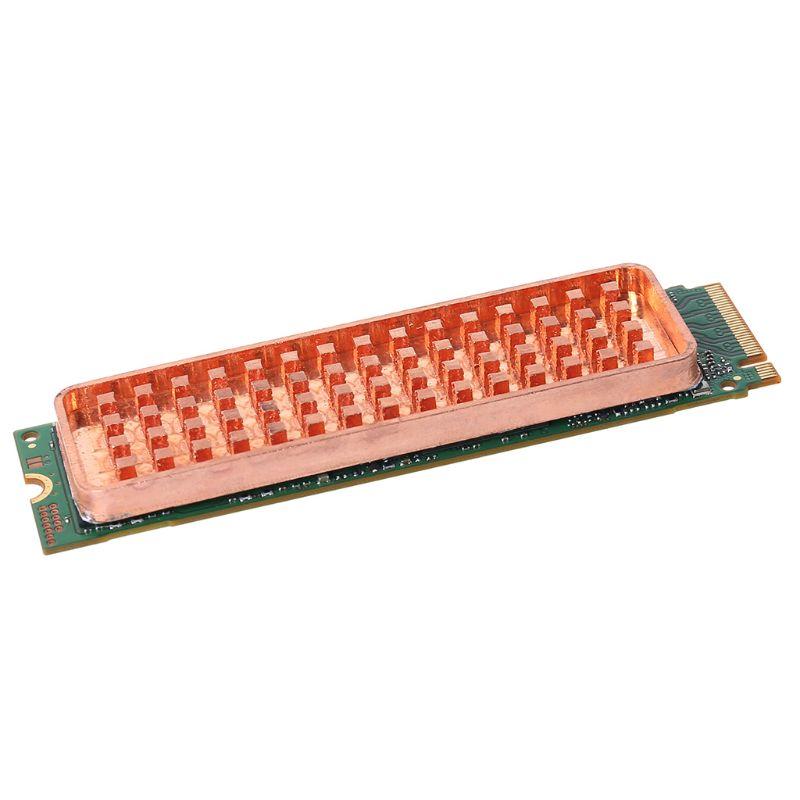 Copper NVME NGFF M.2 Heat Sink 2280 SSD Metal Sheet Thermal Conductivity Silicone Wafer Cooling Fan M2 Heatsink
