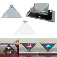 Dropshipping Hot 1 Pc 2020 Mini 3D Hologram Piramide Dier Landschap Display Projector Video Stand Universal Op Voorraad!(China)