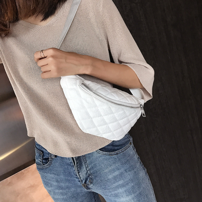 Fashion PU Pure Color High-quality Fanny Pack Belt Small Bags Multi-function Simple Casual School Bag Women's Waist Bag