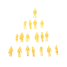 1:100scale model yellow skin color figure for diorama buildings making 1:150 1:200 mdoel unpainted people tiny scenery