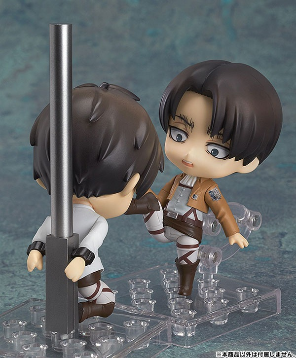 Attack On Titan Rivaille Levi Ackerman 390 Eren Jaeger Action Figure PVC Collection Model Toys Brinquedos For Christmas Gift