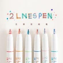 Двухстрочный маркер 05 мм для записей в журнале креативный 3d
