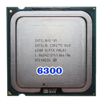 Original INTEL Core 2 Duo E6300 CPU (procesador de 1,86 Ghz/2 M/1066 GHz) 65W Socket 775