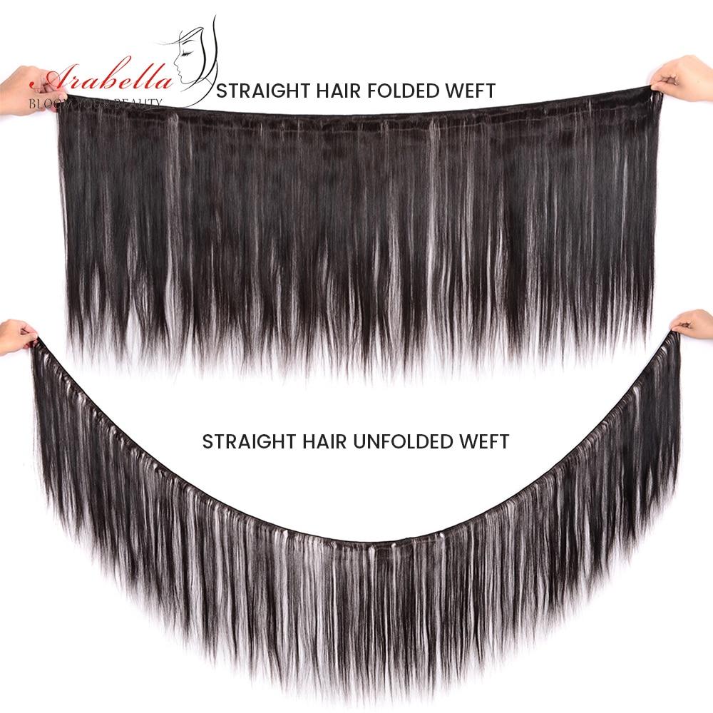 Image 2 - Пряди с закрытием, перуанские прямые волосы, пряди 2*6, Remy человеческие волосы, плетение, Арабелла, пряди-in 3/4 пучка на сетке from Пряди и парики для волос on AliExpress