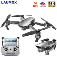 LAUMOX SG907 GPS Drone With 4K HD Camera Wide Angle 5G WIFI FPV RC Drone Quadcopter Foldable Professional Drone Follow Me Mode