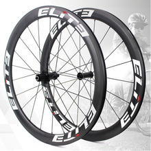 Elite UCI Quality Road Bike Carbon Wheels 700c 3k Twill Carbon Rim Tubeless Ready Sapim Secure Lock Nipple Road Cycling Wheelset 50mm tubular bike rim road bicycle carbon fiber single rim 3k ud surface 20 24 28 holes carbon rim