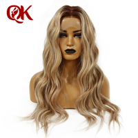 QueenKing hair Front Lace Wig 180% Density 13x4 Lemi Color Balayage Ombre Wigs T4/27/613 Brazilian Remy hair Free Shipping
