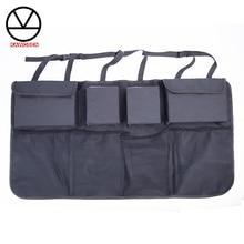 Organizador do tronco do carro ajustável banco de trás saco de armazenamento net de alta capacidade multi uso oxford assento de automóvel volta organizadores universal