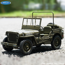 WELLY 1:18 Jeep Willis Simulation Alloy Off-Road Alloy Retro Car Model Classic Car Model Car Decoration Collection gift