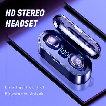 KUGE Wireless V5 0 słuchawki Bluetooth Stereo HD słuchawki sportowe wodoodporne słuchawki z podwójny mikrofon i 2000mAh ładowanie baterii Cas tanie i dobre opinie Inne Bezprzewodowy + Przewodowe Do Internetu Bar Monitor Słuchawkowe Do Gier Wideo Wspólna Słuchawkowe Dla Telefonu komórkowego