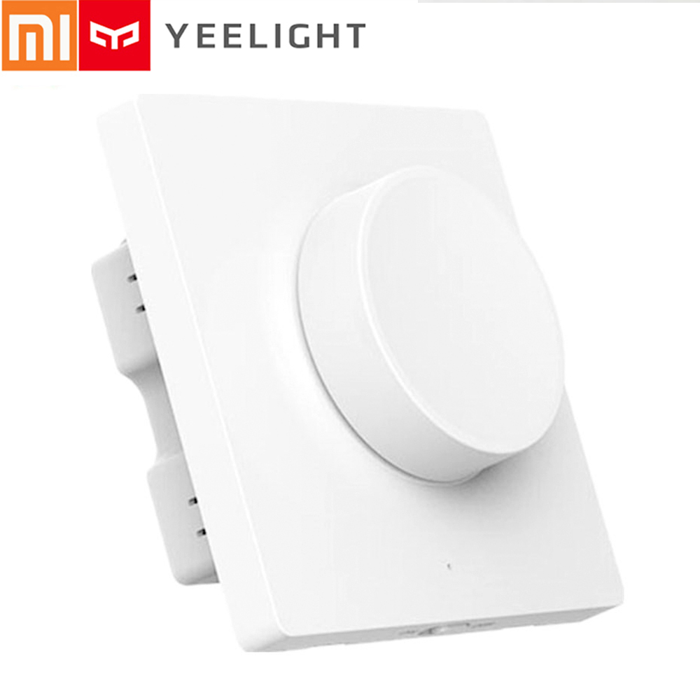 Xiaomi Yeelight Smart Bluetooth Dimmer Switch 86 Type Mi Home APP Wall Light Switch Remote Control For LED Ceiling Pendant Light