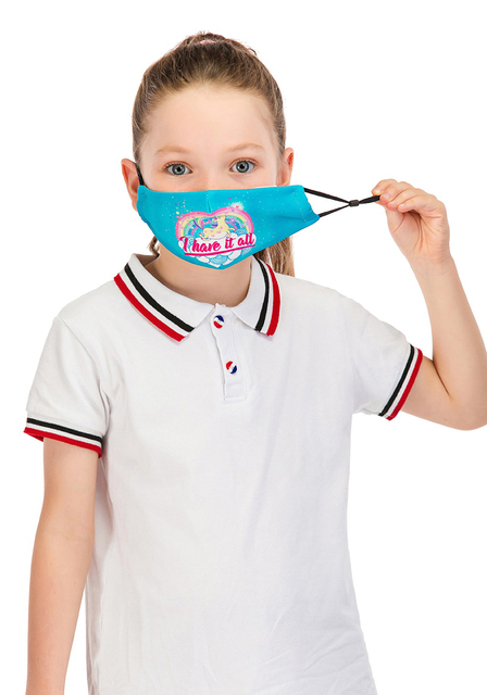 Face Mask For Kids Fashion Reusable Mouth Mask With 2pcs PM2.5 Filter Anti Dust Masks For Germ Protection kpop Printed Mask 5