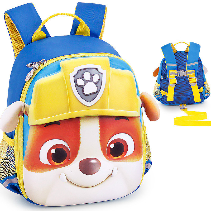 Paw Patrol Doll Children's School Cartoon Bag 3D Print Animal Character Puppy Patrol Backpack Kindergarten Kid Toy Anime Figure image
