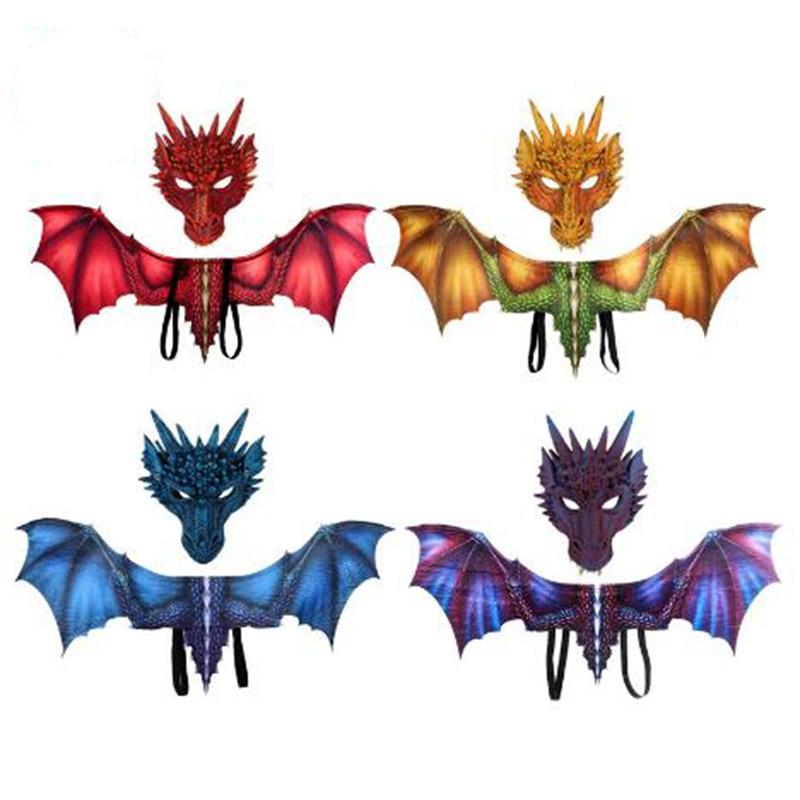 3D маски крылья дракона косплей костюм крылья реквизит декор Марди Гра крылья дракона Хэллоуин Вечеринка Косплей Костюм