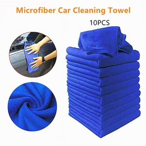 10PCS Microfiber Car Cleaning Towel Household Cleaning Small Towel Windshield Cloth Automobile Motorcycle Washing Glass Towel