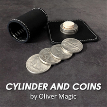 Cylinder And Coins ( Walking Liberty Half Dollar ) Magic Tricks Close Up Street Stage Magic Props Gimmick Mentalism Illusions