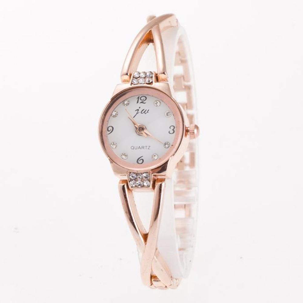 Fashion Women Watch Bracelet Minimalism Rhinestone Golden Sliver Stainless Steel Wrist Watch For Ladies Gift Relogio Feminino