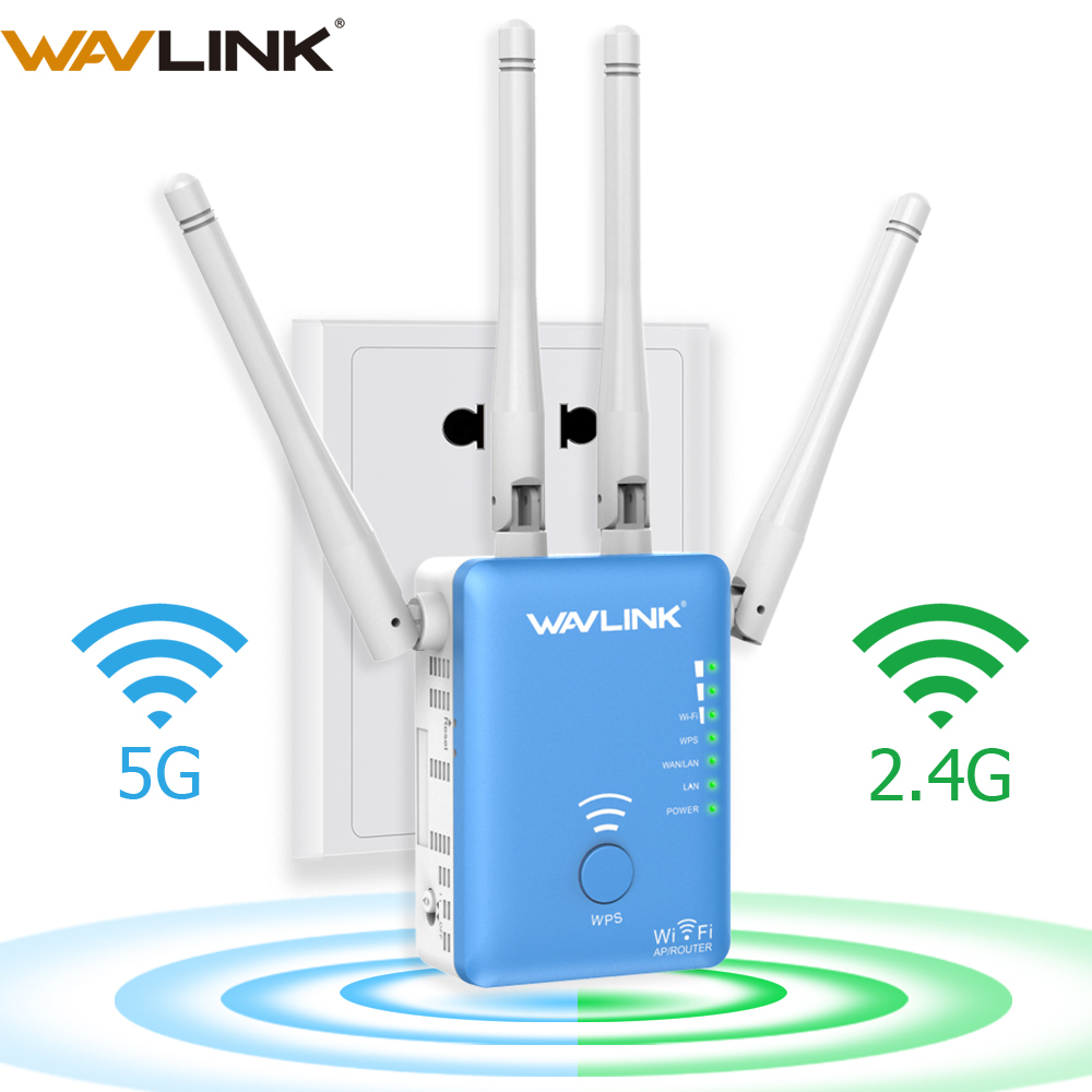 Wavlink Signal-Amplifier Network Range-Extender Repeater/router Wifi Dual-Band 1200mbps