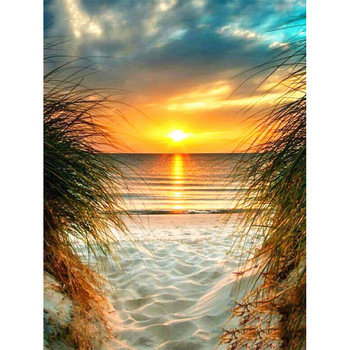 5D DIY Diamond Painting Landscape Sunset Sea Kit Full Drill Square Embroidery Mosaic Art Picture of Rhinestones Home Decor Gift 22