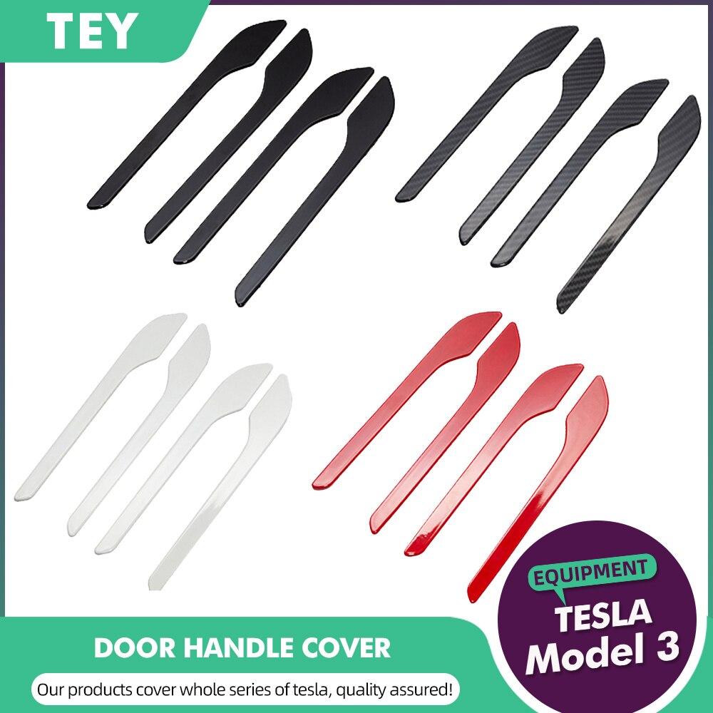 TEY  For Tesla Model 3 Door Handle Protector Sticker Model3 Model Y Accessories Model Three