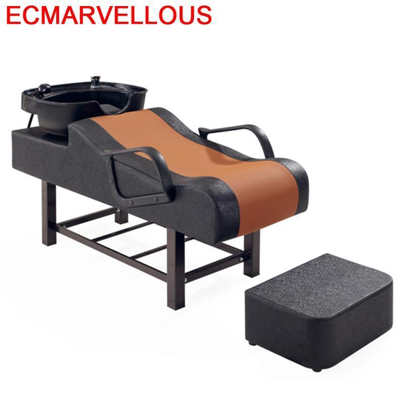 Bed Makeup For Cadeira Cabeleireiro Barber Shop De Belleza Beauty Hair Furniture Salon Silla Peluqueria Shampoo Chair