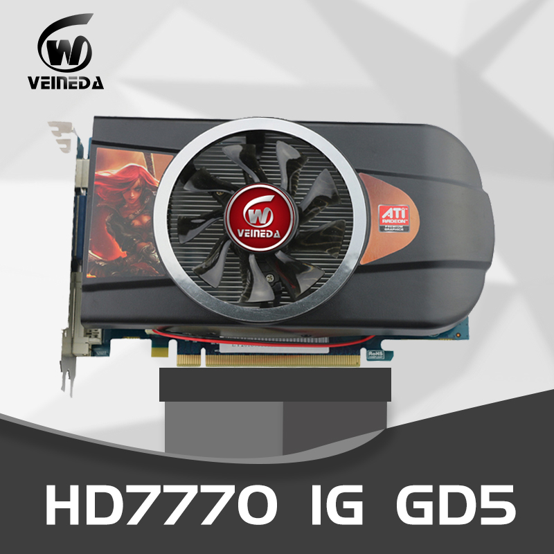 VEINEDA Graphics Cards Video Card HD7770 1GB 128Bit PC Desktop PCI Express 2.0  GDDR5 For ATI Radeon Games