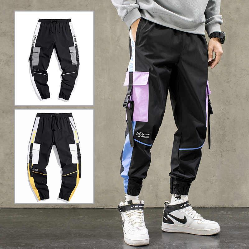 Hip Hop Cintas De Carga Pantalones Hombres Joggers Pants Streetwear Hombres 2021 Moda Elastico Cintura Casual Para Hombre Pantalones De Chandal Pantalones Informales Aliexpress