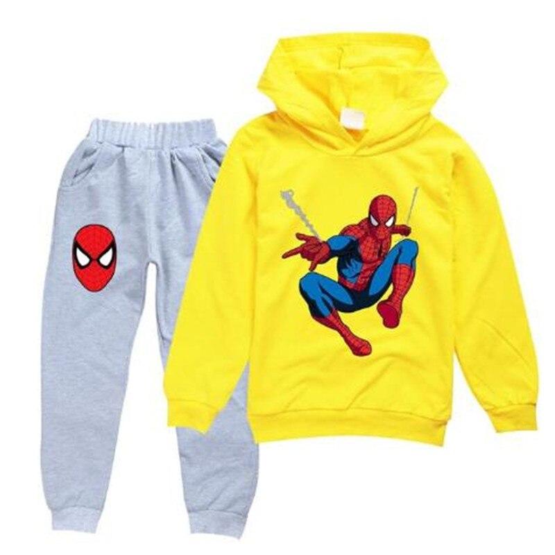 Bébé garçon vêtements automne hiver Cool Spiderman enfants enfants ensemble noël Thanksgiving tenues adolescentes filles vêtements