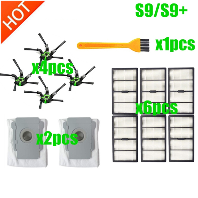 9550 ,S9+ Roller Side Brush Filter Kits Parts for iRobot Roomba S9 9150 Robot