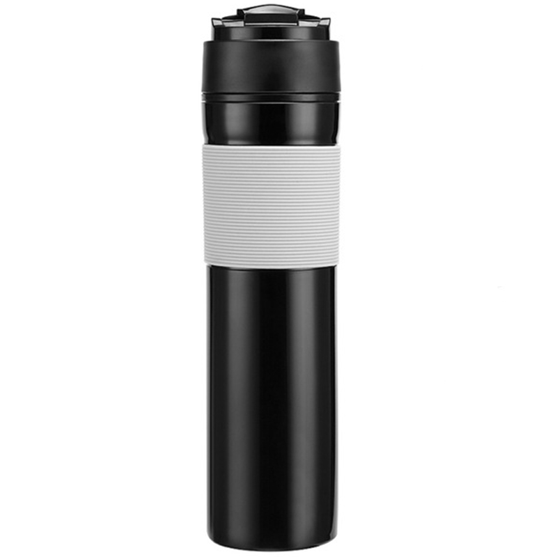 350Ml Portable French Pressed Coffee Bottle Coffee Tea Maker Coffee Filter Bottle Hand Pressure Coffee Machine For Car Office|Coffee Pots| |  - title=