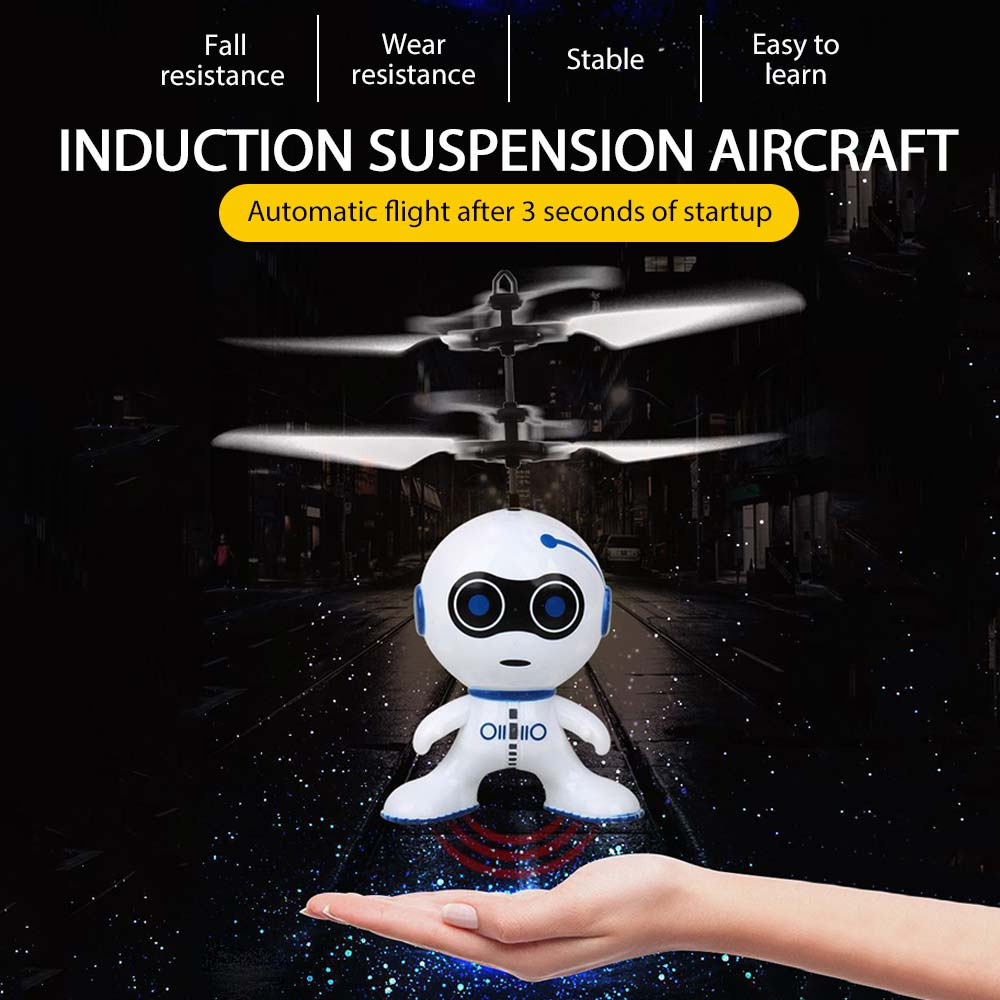 NEW Floating Robot Suspension Aircraft Suspension Robot Plastic Balance Kids Toy Drone Fun Electric Helicopter new year Gifts