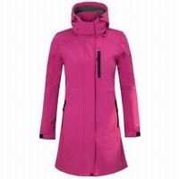 Women's Softshell Fleece Long Jacket fleece jacket Outdoor Windbreaker Hiking Camping Trekking Climbing Female Brand Coats