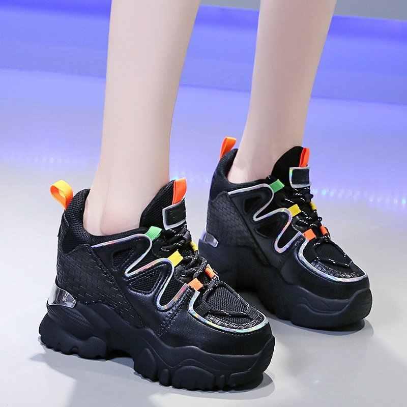 Femme Femmes Lacets Running grosses Baskets Parti Baskets Maille Femmes Chaussures