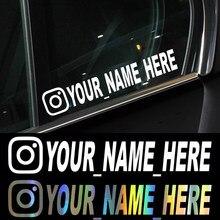 Nome de usuário Personalizado Decalques Da Motocicleta adesivos de Carro Adesivos de Carro Adesivos de Vinil para o Instagram Pinterest FACEBOOK YouTube Pegatinas Coche