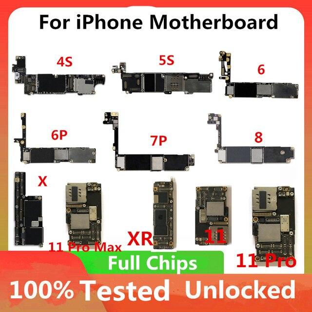 Original Für iphone 6 plus entsperrt Motherboard Für iPhone 6/7/7 Plus / 8 /X /XS /XR /XS MAX /11 / 11 Pro Logic Board Keine Touch