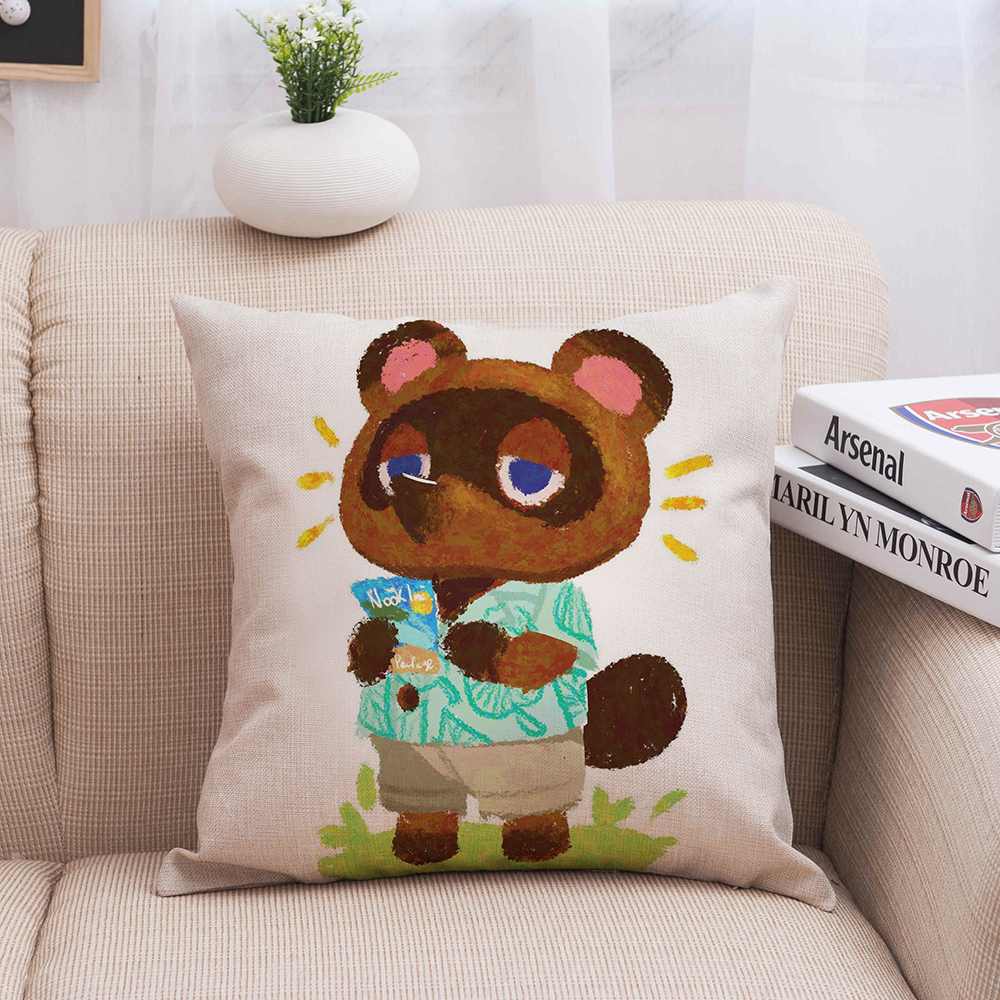 Animal Crossing Cushion Cover Cartoon Animal Linen Throw Pillow Case Cover Decoration Pillowcases