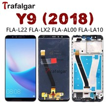 Trafalgar Display For Huawei Y9 2018 LCD Display Touch Screen Digitizer Assembly With Frame For Huawei Y9 2018 LCD FLA LX1 LX3