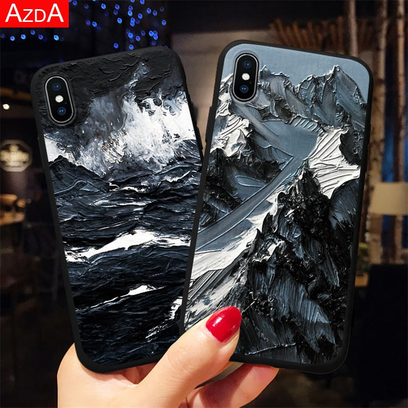 3D Matte Emboss Case For iPhone 7 Case 6 6S 8 Plus X 5 5S SE 2020 10 11 Pro XS Max XR TPU Cover Silicone For iPhone 8 Plus Coque(China)