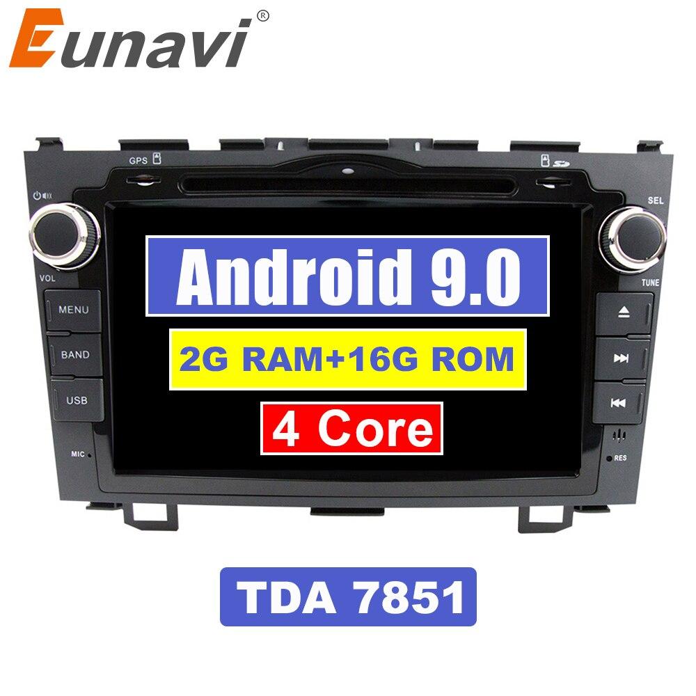 Eunavi 8 inch Android 9,0 2 Din Auto DVD Player Radio GPS Für Honda CRV Cr-v 2006 2007 2008 2009 2010 2011 kopf Einheit Stereo WIFI