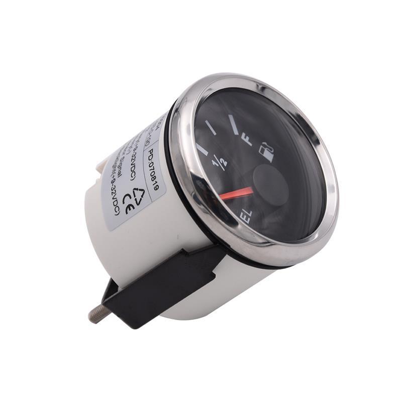 INTEFIRE Fuel Lever Gauge 240-33ohm Motorcycle Car Fuel Gauge Indicator wth Warning Light fit Boat 9-32V 52MM Waterproof