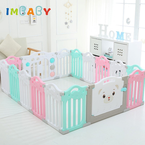 IMBABY Playpen for Children Edible PP Baby Playground Fence Spliced Playpen Kids Ball Pool Pit for Toddler Babies Toys Play Yard