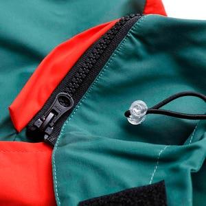 Image 4 - 2019 Streetwear Hip Hop rompevientos chaqueta Retro Color bloque para hombre chaqueta con capucha bolsillo Harajuku cremallera chaqueta exterior