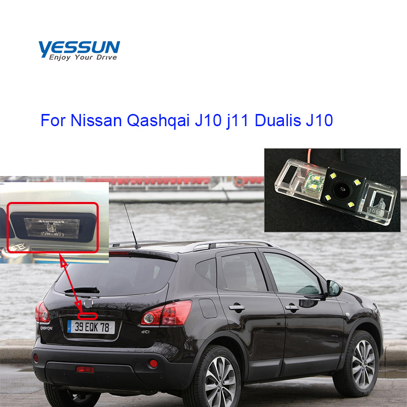 Car Rear View  Camera For Nissan Qashqai J10 J11 Dualis J10 2007 2008 2009 2010 2011~2016 License Plate Camera Or Housing Mount