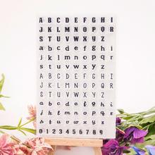 3 litery litery transparentne wyraźne znaczki/pieczęć do DIY Scrapbooking/ozdobny Album na zdjęcia tworzenie kartek wyczyść pieczęć arkuszy
