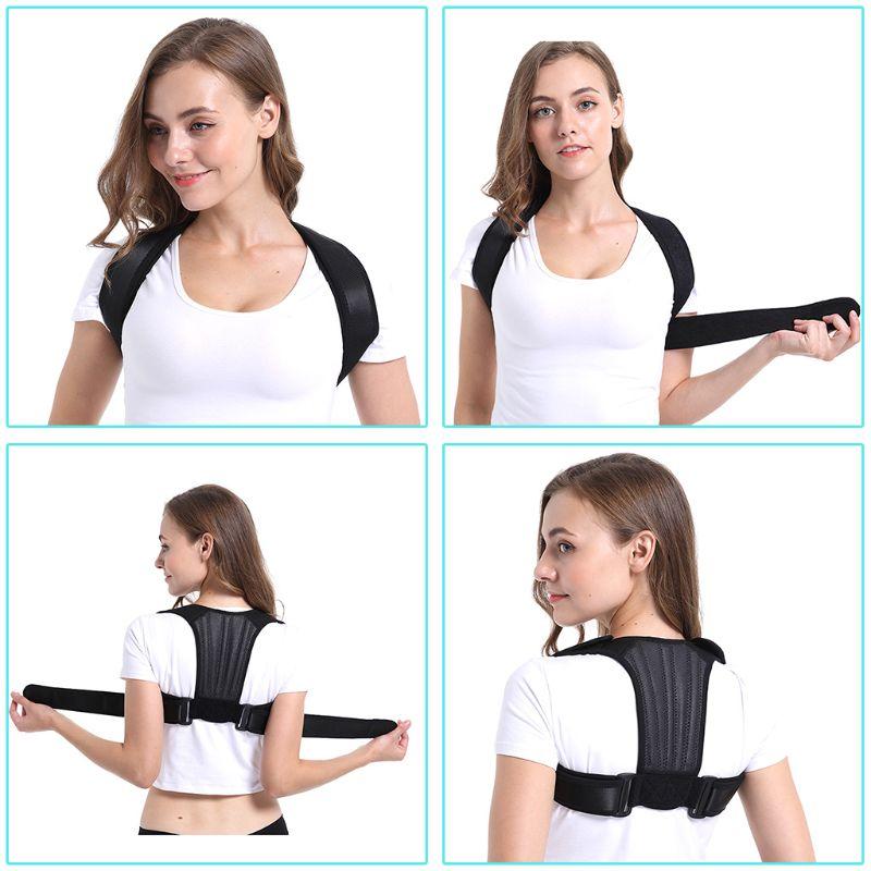 Adult Student Back Straightener Adjustable Posture Corrector Humpback Clavicle Brace Support Belt For Neck Shoulder Pain Relief